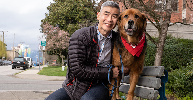 Vancouver CPA shares his time—and his wonder dog—with those in need