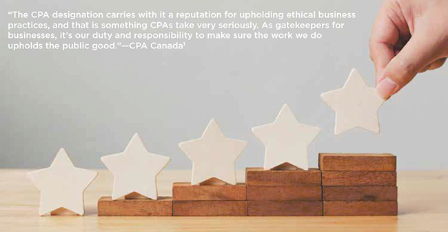 CPABC in Focus - Ethics - five star rating