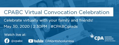 Join CPABC's Virtual Convocation Celebration on May 30